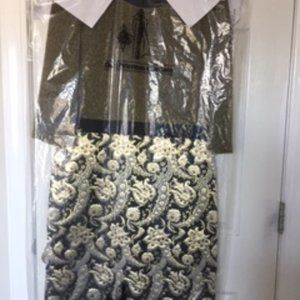 J. Peterman Brocade Dress Size 16